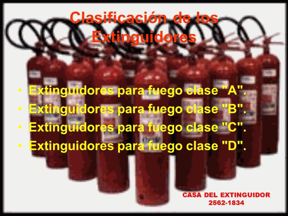 Clasificación de los Extinguidores
