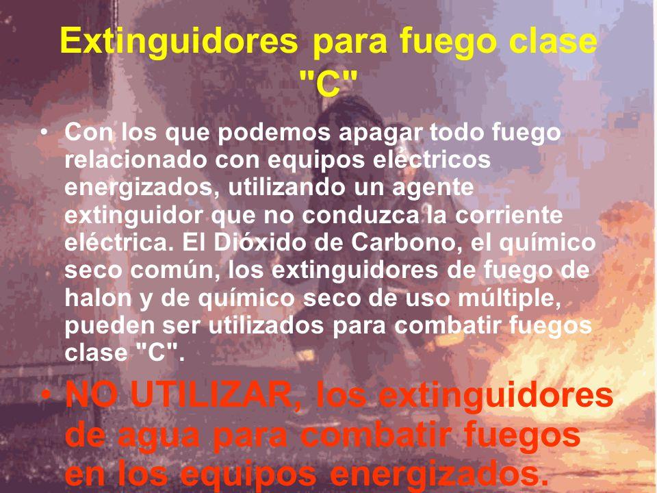 Extinguidores para fuego clase C