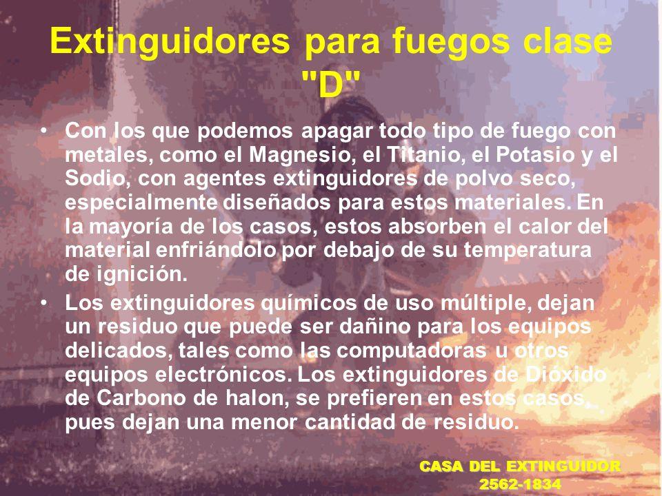 Extinguidores para fuegos clase D