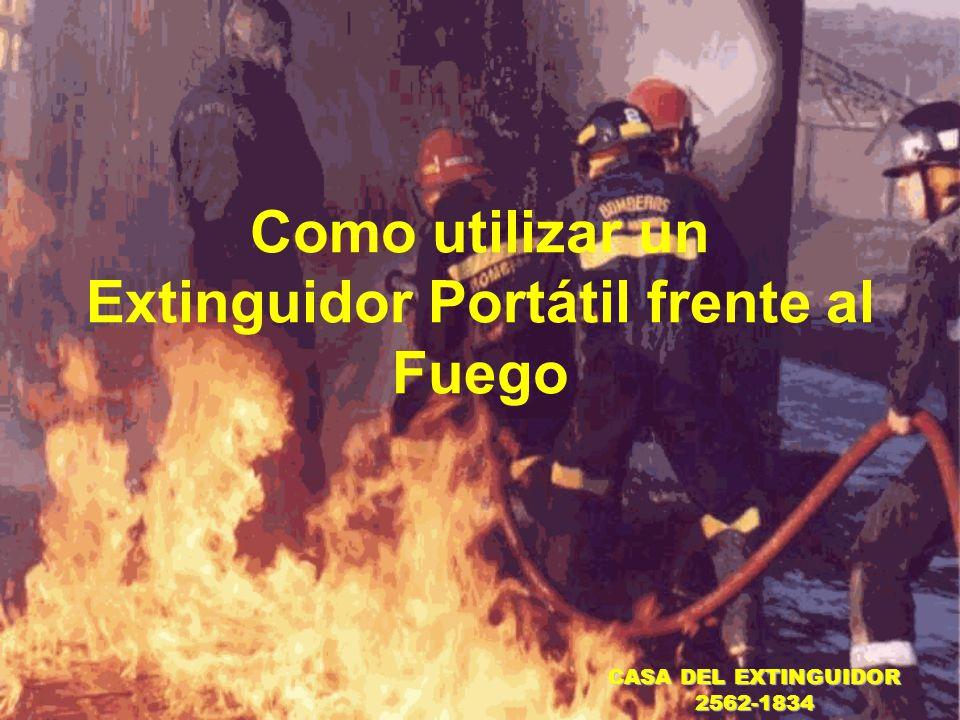 Como utilizar un Extinguidor Portátil frente al Fuego
