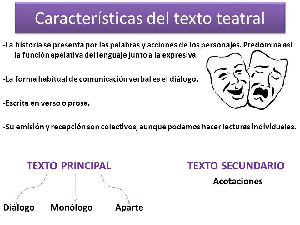 Características del texto teatral