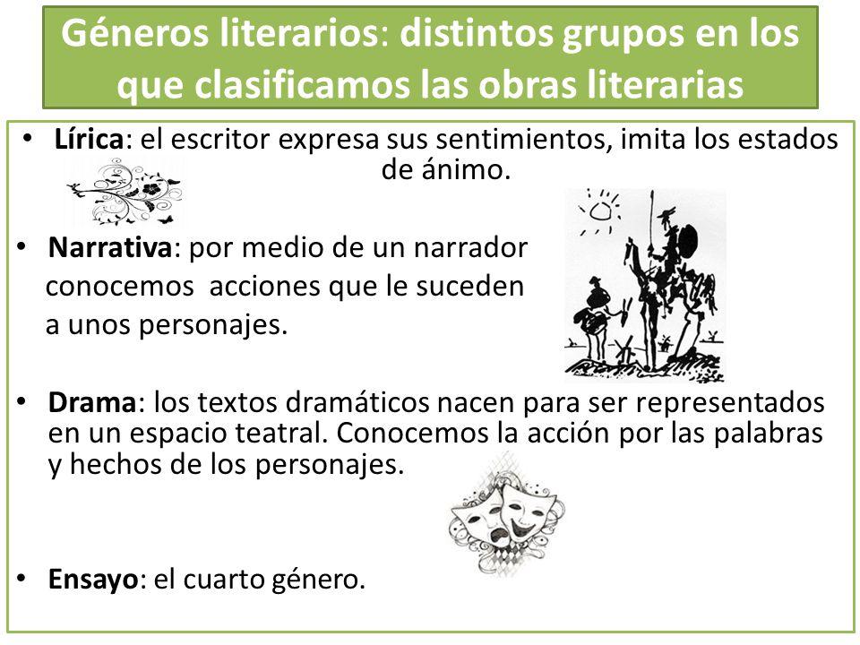 Géneros literarios: distintos grupos en los que clasificamos las obras literarias