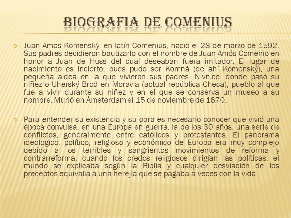 BIOGRAFIA DE cOMENIUS