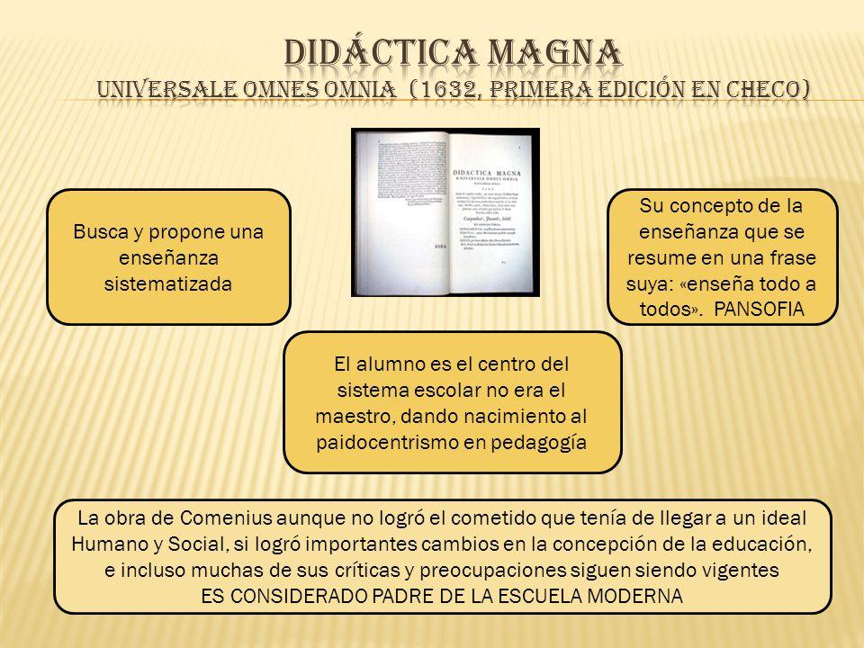 Didáctica Magna Universale omnes omnia (1632, primera edición en checo)