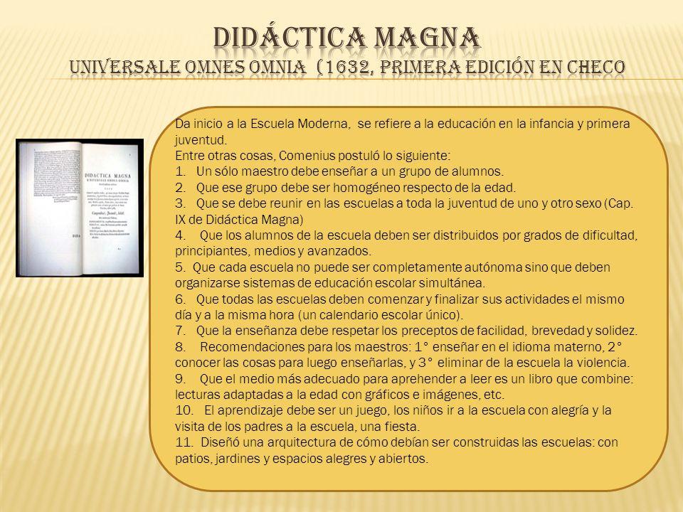 Didáctica Magna Universale omnes omnia (1632, primera edición en checo