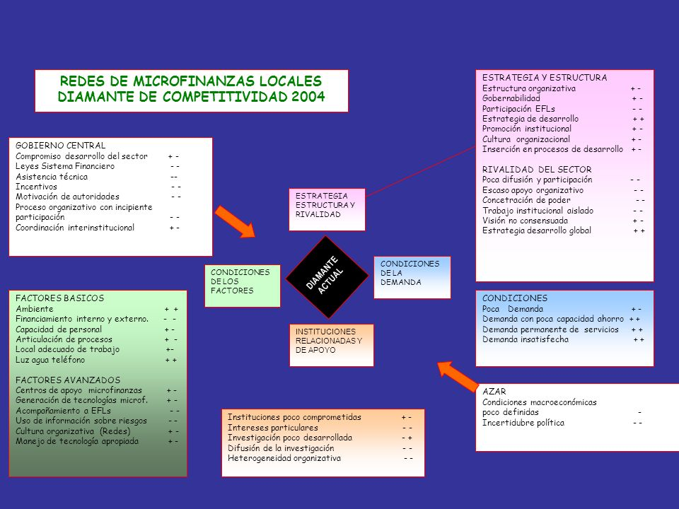 REDES DE MICROFINANZAS LOCALES DIAMANTE DE COMPETITIVIDAD 2004