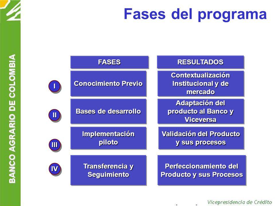 Fases del programa FASES RESULTADOS Conocimiento Previo
