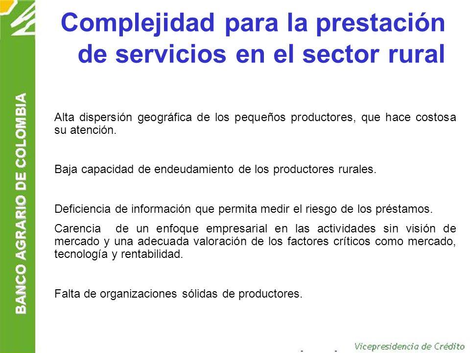 Complejidad para la prestación de servicios en el sector rural