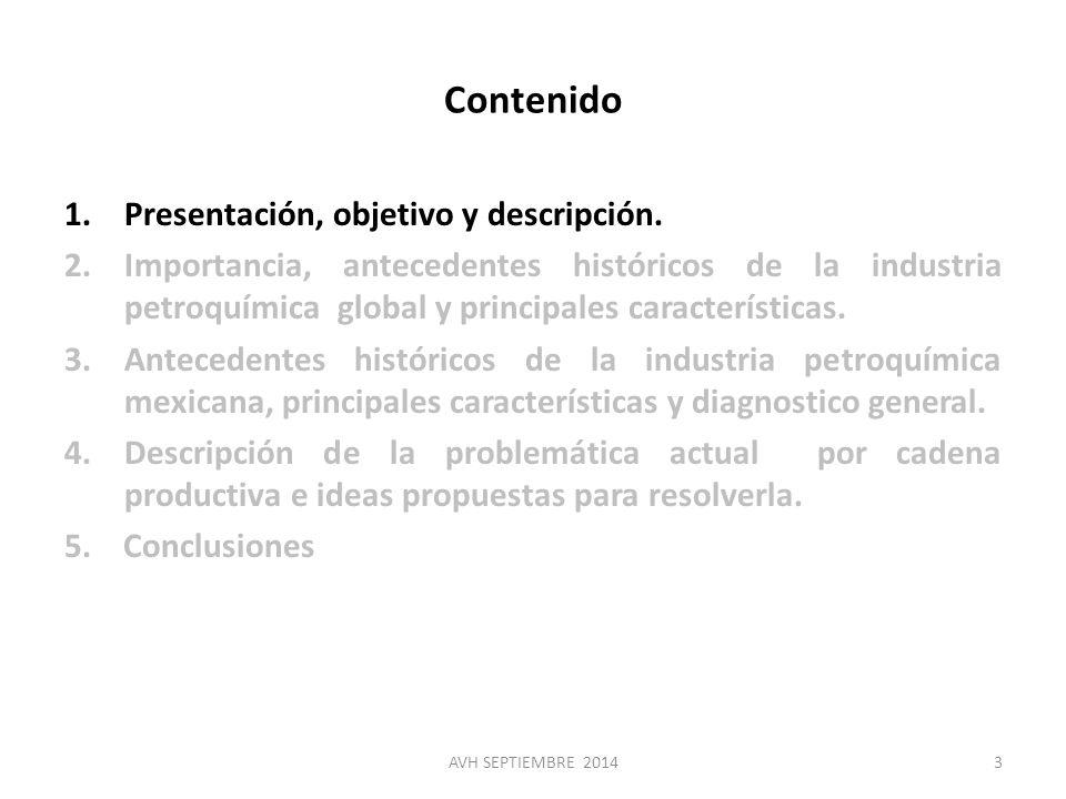 Contenido Presentación, objetivo y descripción.