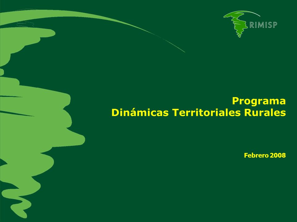 Dinámicas Territoriales Rurales