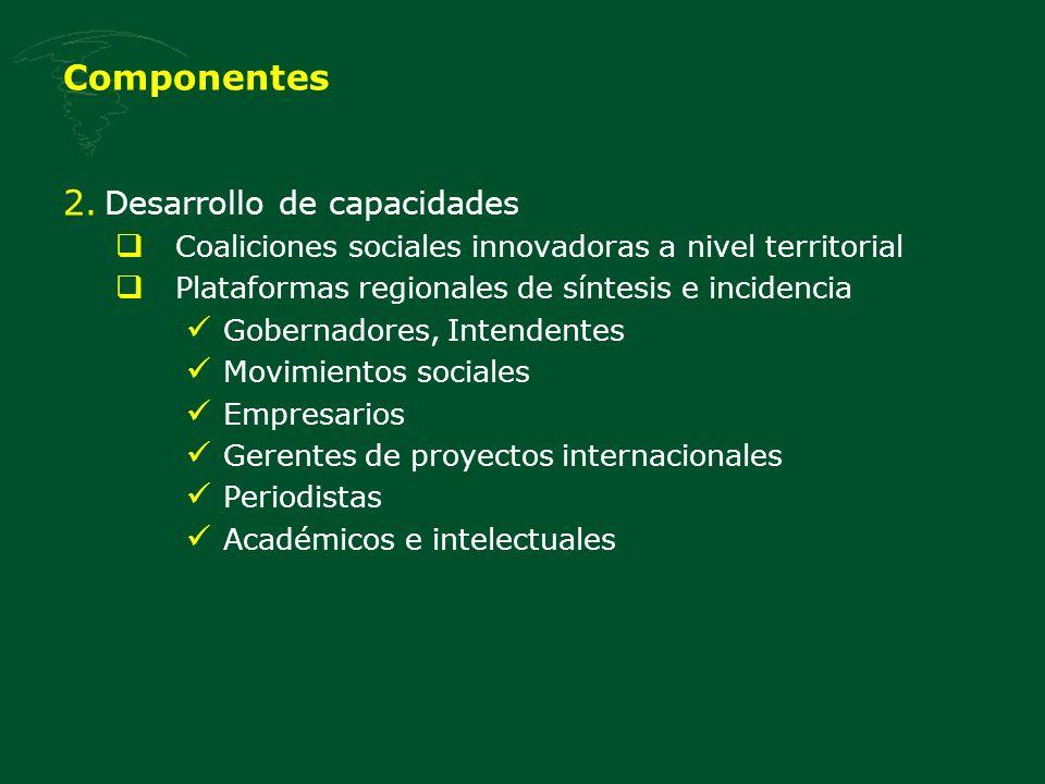 Componentes Desarrollo de capacidades