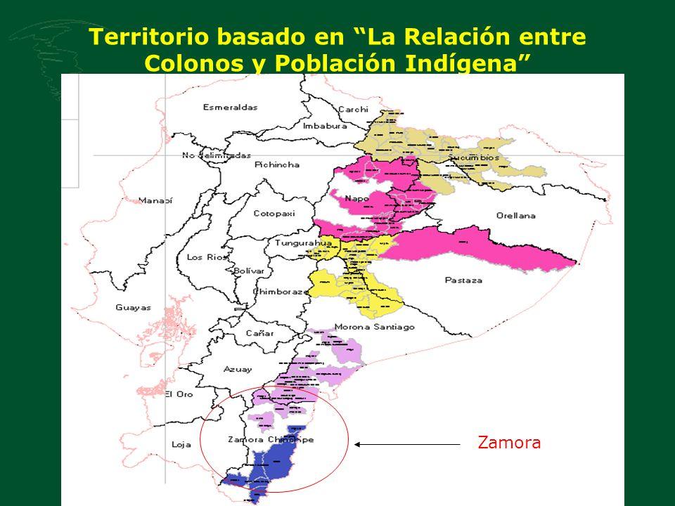 Territorio basado en La Relación entre Colonos y Población Indígena