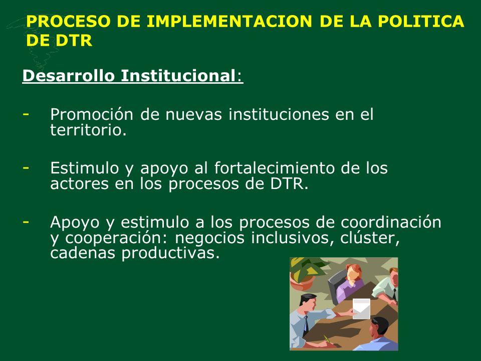 PROCESO DE IMPLEMENTACION DE LA POLITICA DE DTR