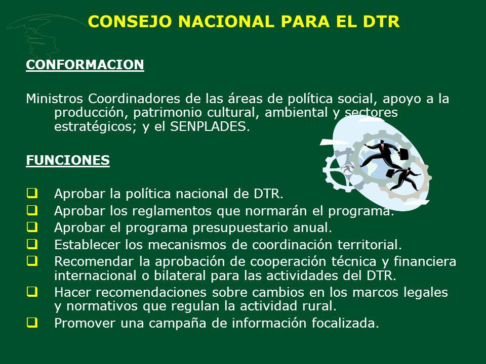CONSEJO NACIONAL PARA EL DTR