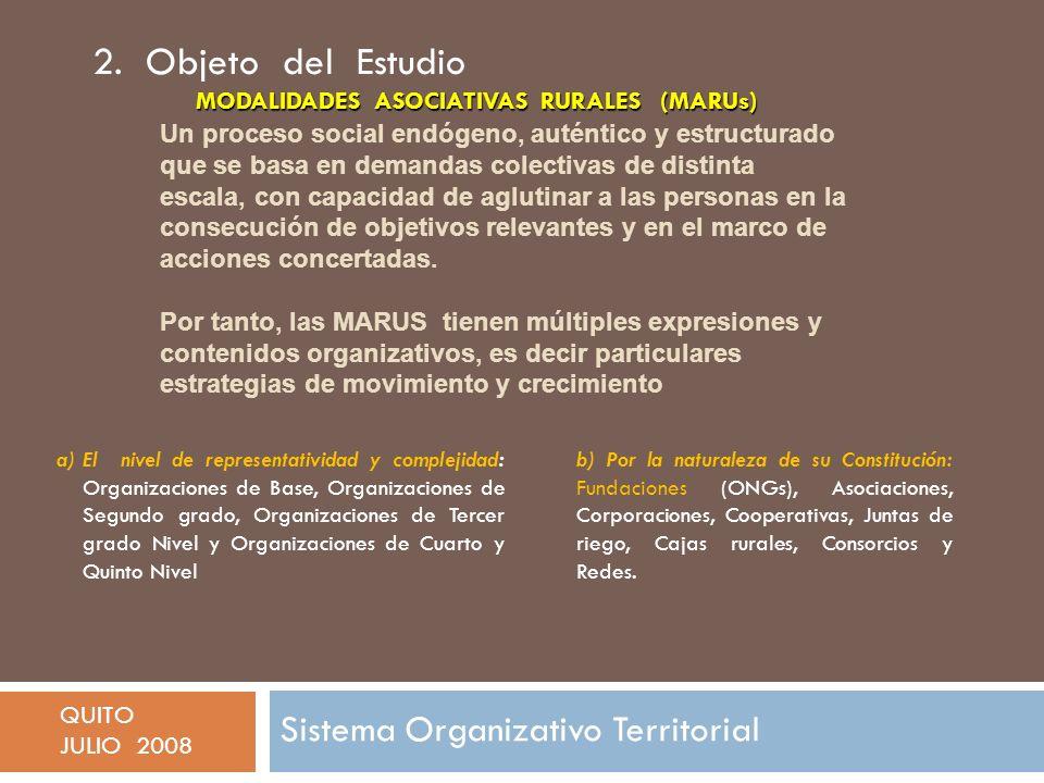 2. Objeto del Estudio Sistema Organizativo Territorial