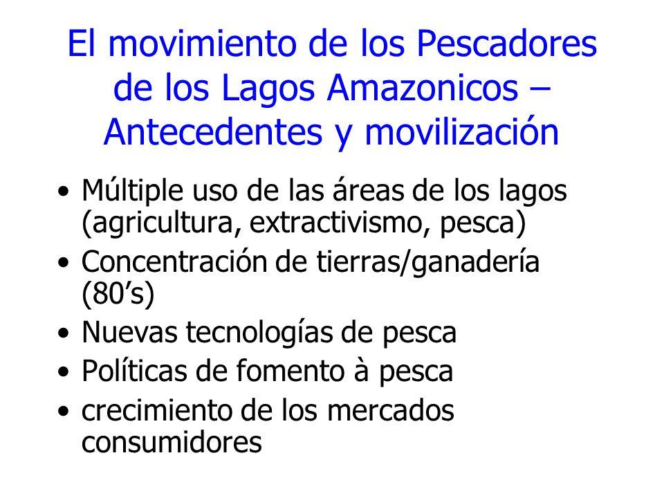 El movimiento de los Pescadores de los Lagos Amazonicos – Antecedentes y movilización