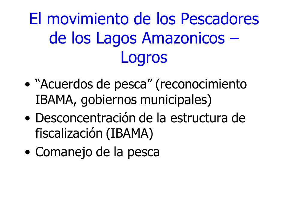 El movimiento de los Pescadores de los Lagos Amazonicos – Logros