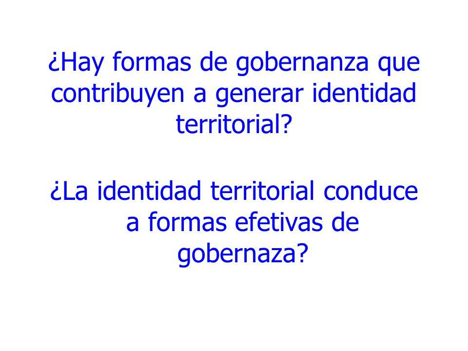 ¿La identidad territorial conduce a formas efetivas de gobernaza