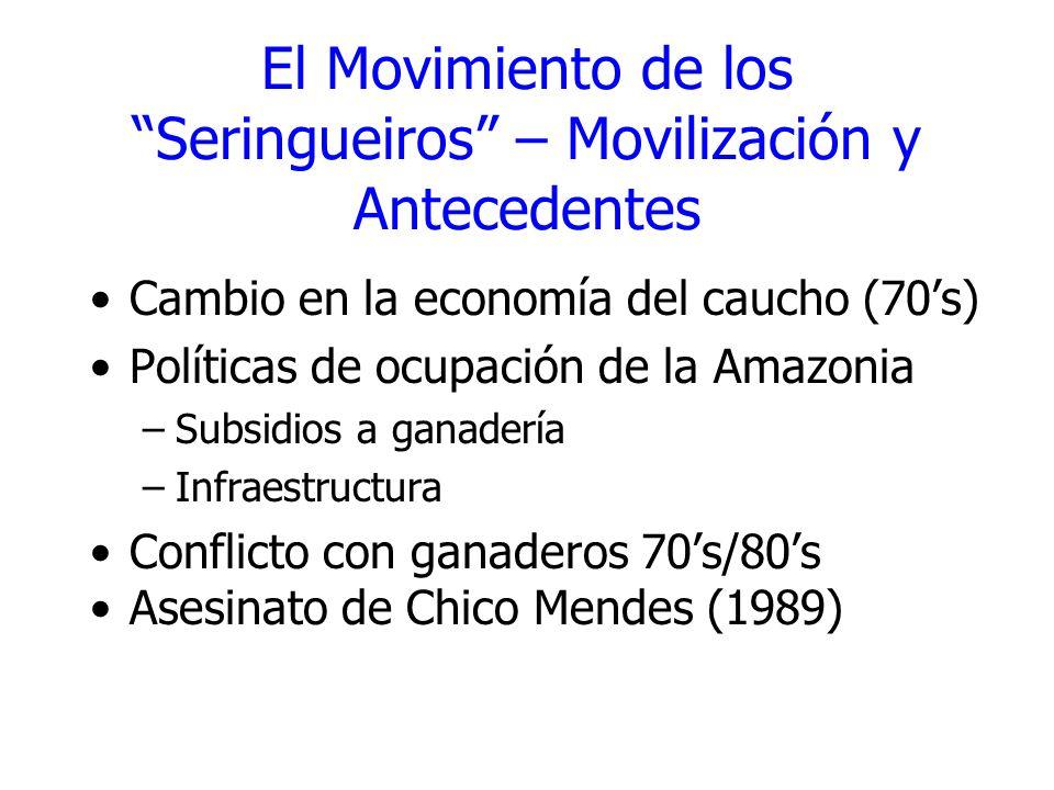 El Movimiento de los Seringueiros – Movilización y Antecedentes