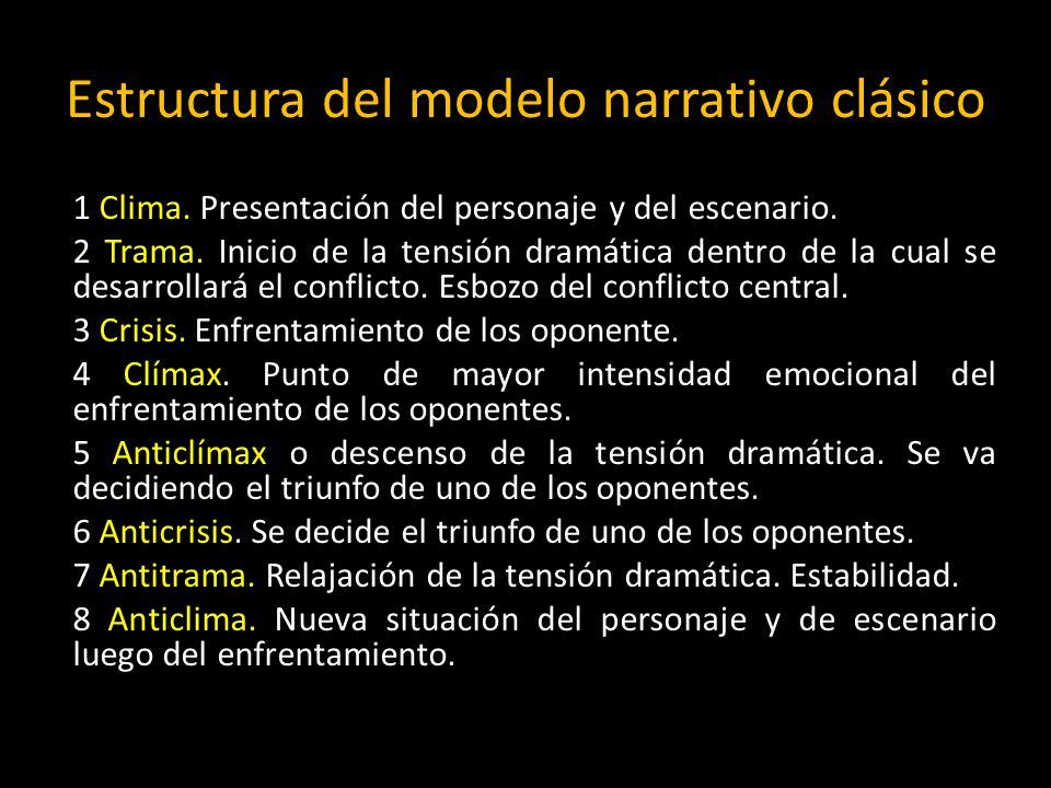 Estructura del modelo narrativo clásico
