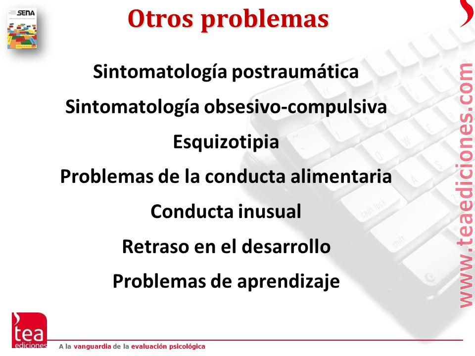 Otros problemas Sintomatología postraumática