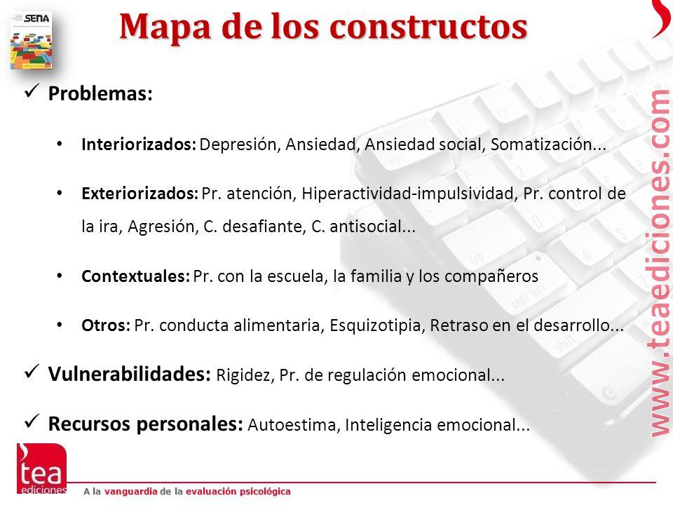 Mapa de los constructos