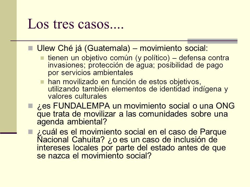 Los tres casos.... Ulew Ché já (Guatemala) – movimiento social: