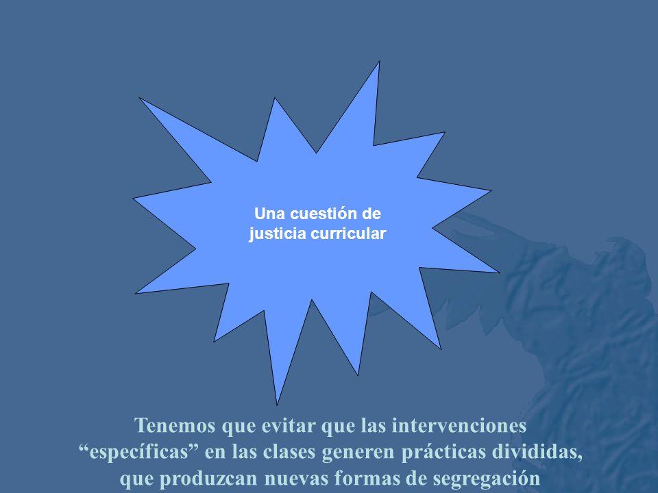 Una cuestión de justicia curricular