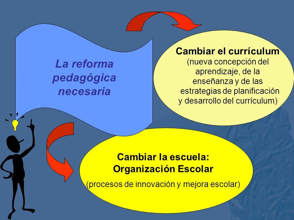 La reforma pedagógica necesaria