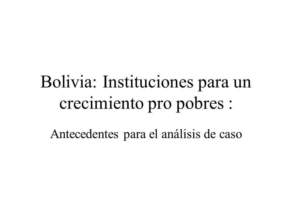Bolivia: Instituciones para un crecimiento pro pobres :