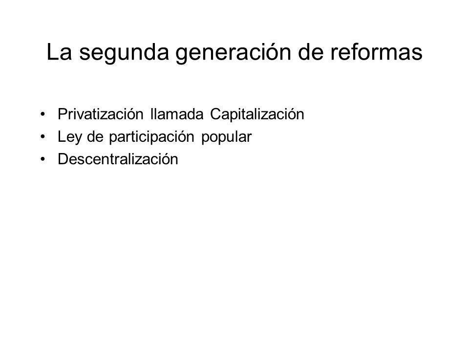 La segunda generación de reformas