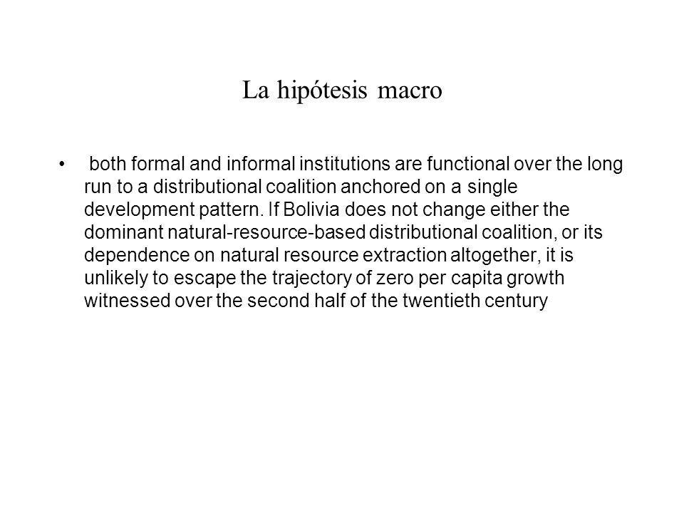 La hipótesis macro