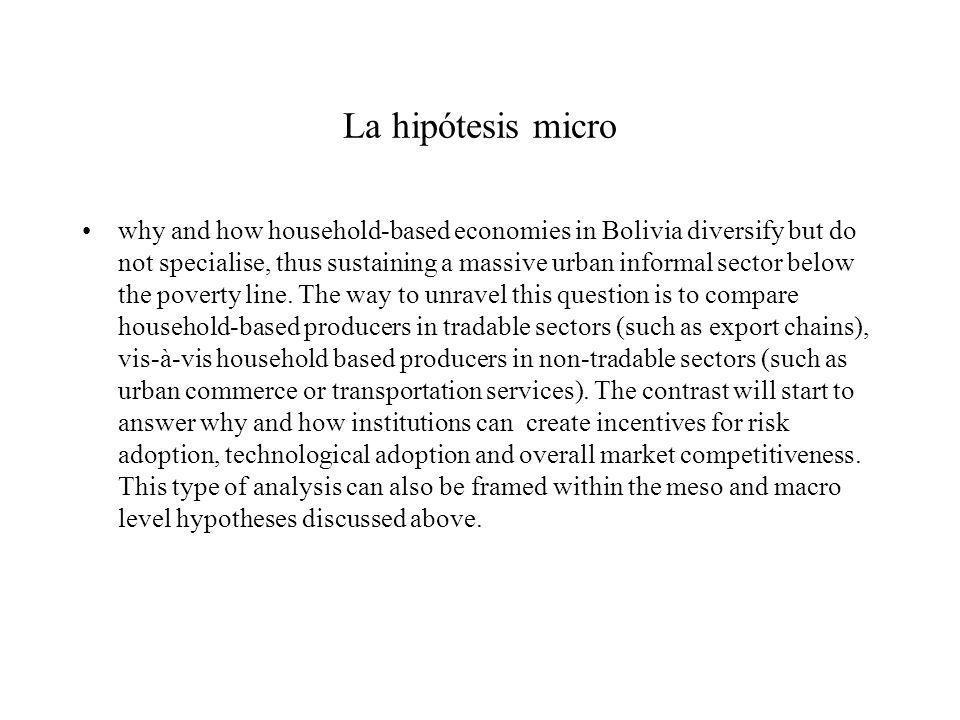 La hipótesis micro