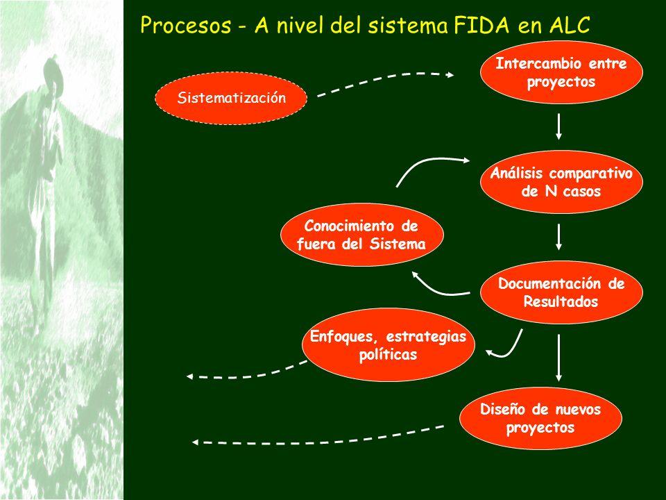Procesos - A nivel del sistema FIDA en ALC