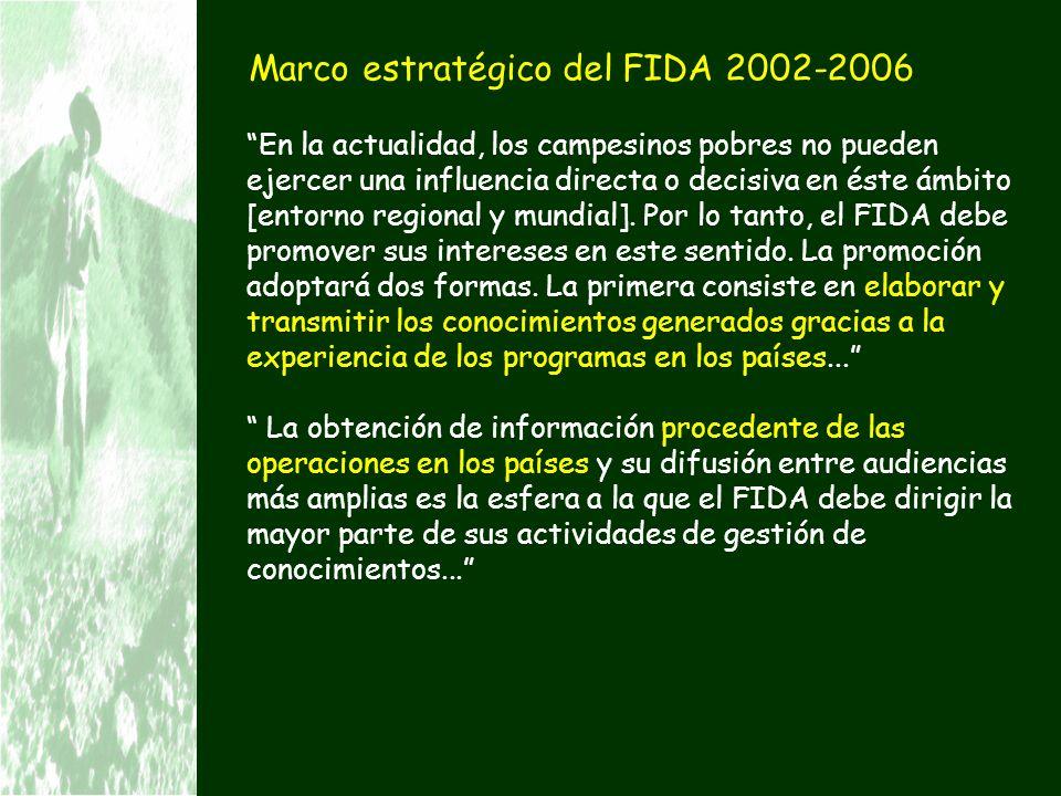 Marco estratégico del FIDA 2002-2006