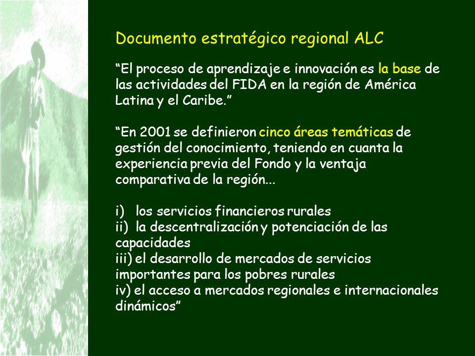 Documento estratégico regional ALC