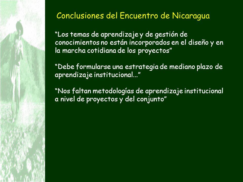 Conclusiones del Encuentro de Nicaragua