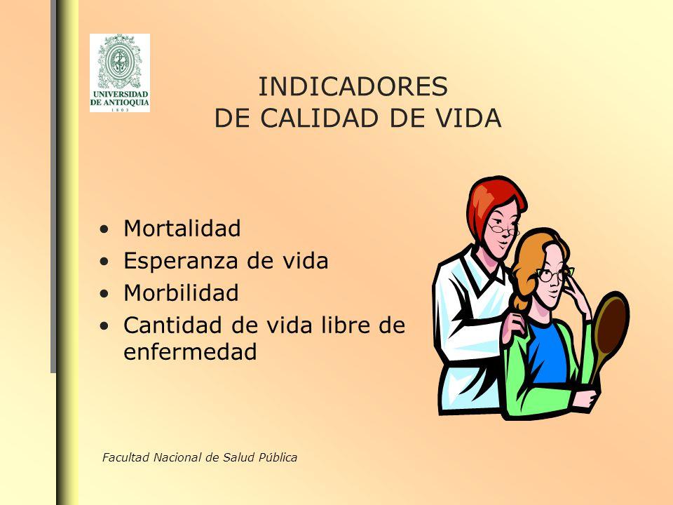 INDICADORES DE CALIDAD DE VIDA