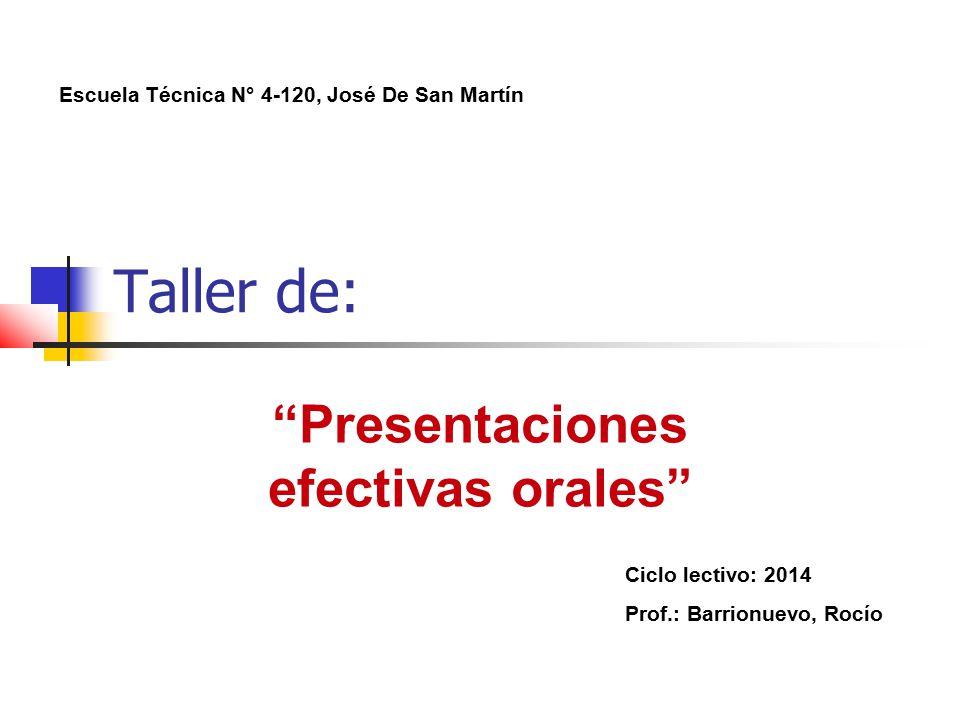 Presentaciones efectivas orales