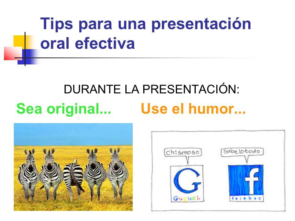 Tips para una presentación oral efectiva