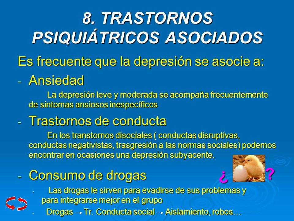 8. TRASTORNOS PSIQUIÁTRICOS ASOCIADOS