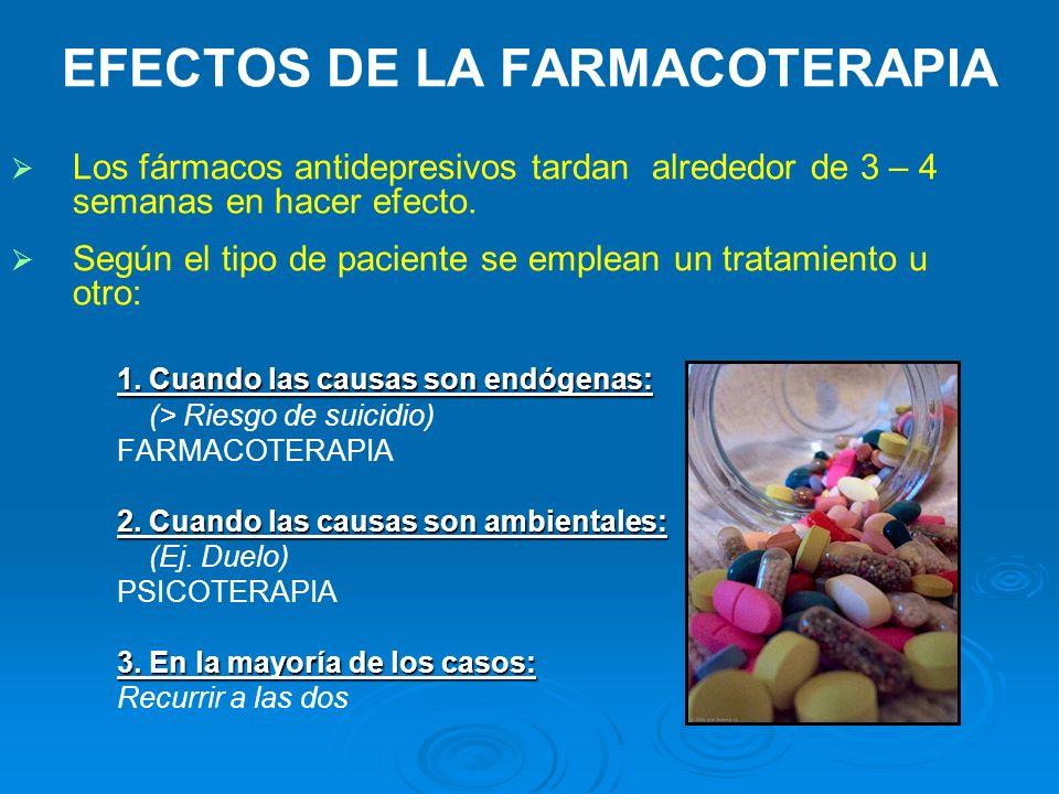 EFECTOS DE LA FARMACOTERAPIA