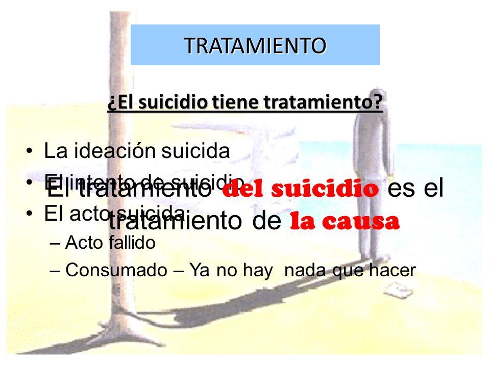 ¿El suicidio tiene tratamiento