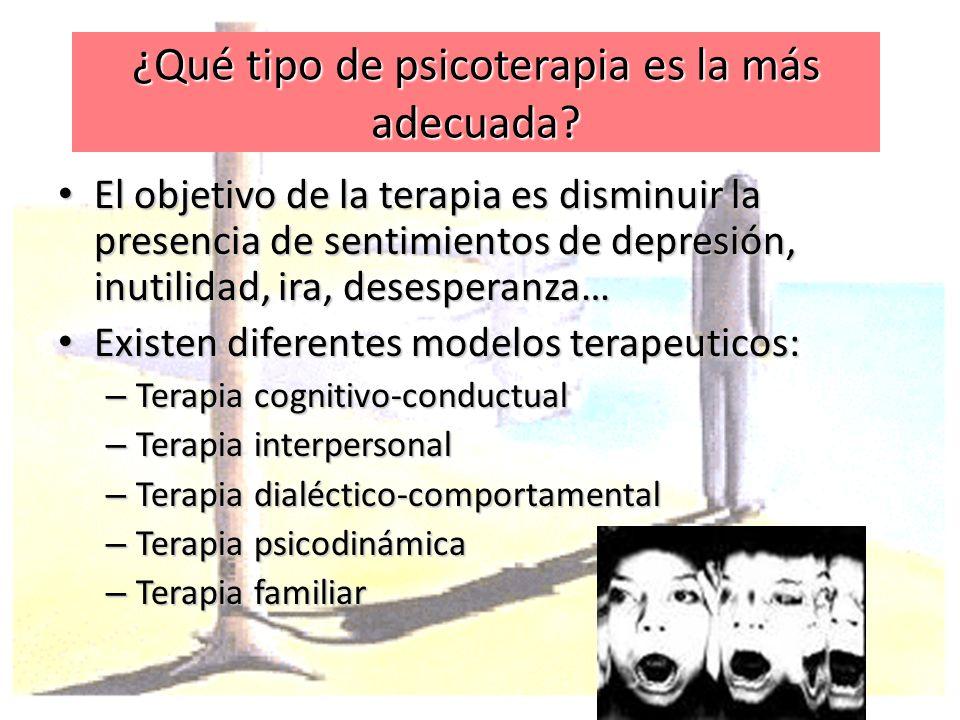 ¿Qué tipo de psicoterapia es la más adecuada