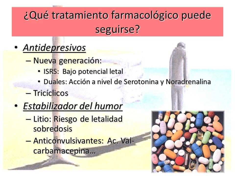 ¿Qué tratamiento farmacológico puede seguirse