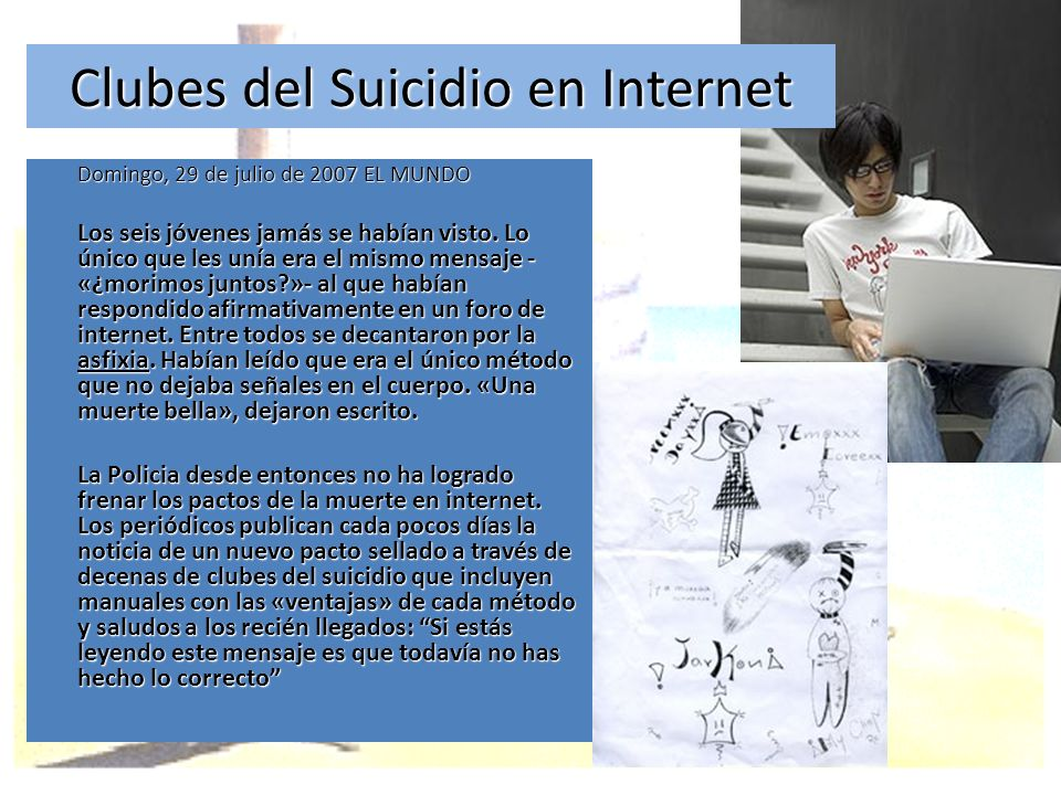 Clubes del Suicidio en Internet