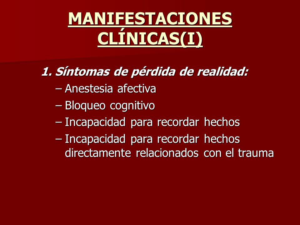 MANIFESTACIONES CLÍNICAS(I)