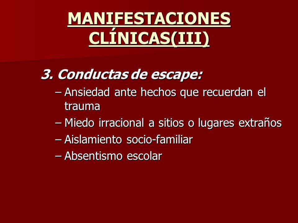 MANIFESTACIONES CLÍNICAS(III)