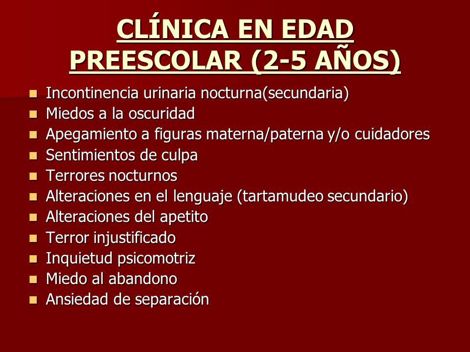 CLÍNICA EN EDAD PREESCOLAR (2-5 AÑOS)