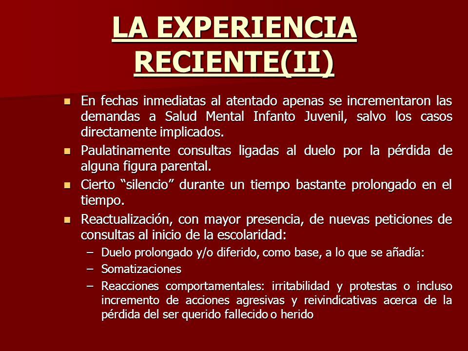 LA EXPERIENCIA RECIENTE(II)